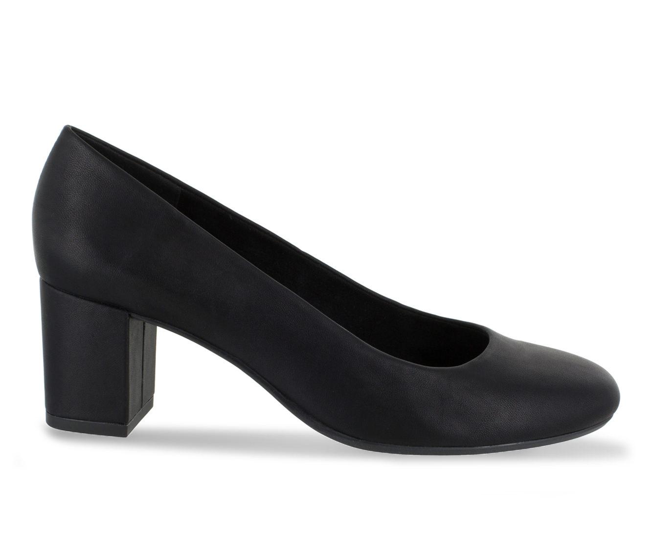 Easy Street Proper Women's Dress Shoe (Black Faux Leather)