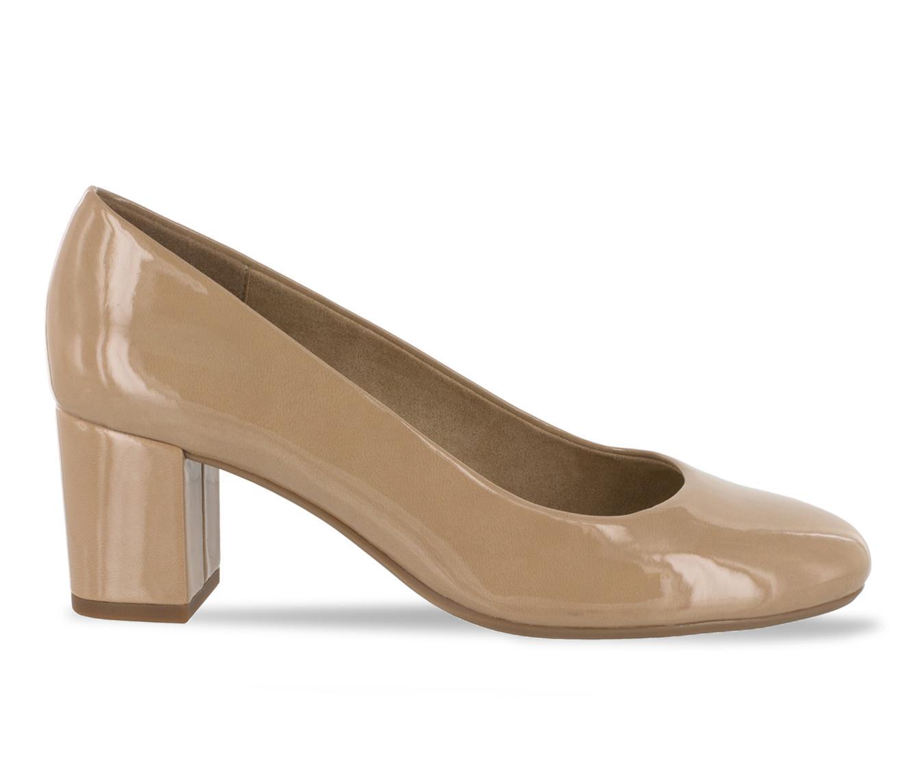 Easy Street Proper Women's Dress Shoe (Beige Faux Leather)