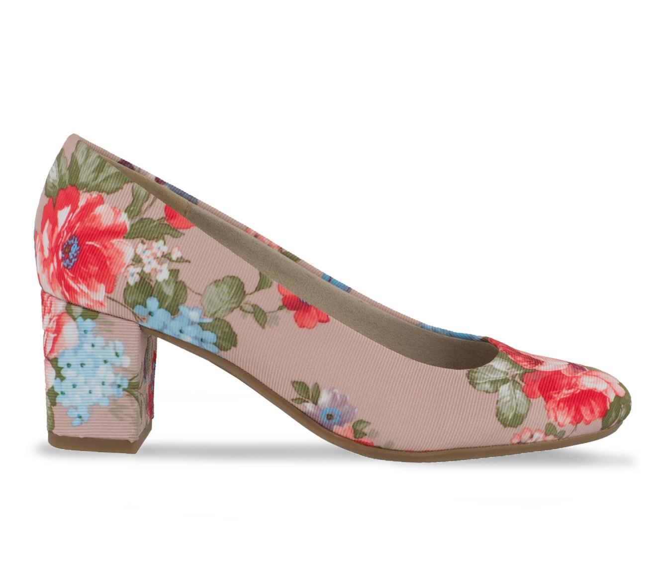 Easy Street Proper Women's Dress Shoe (Multi-color Canvas)
