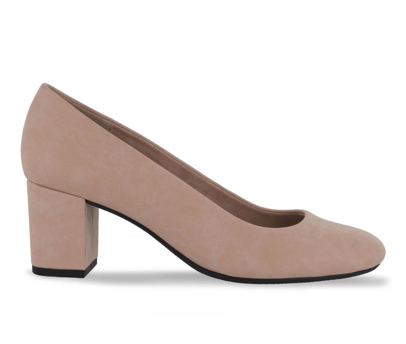 Easy Street Proper Women's Dress Shoe (Pink Faux Leather)