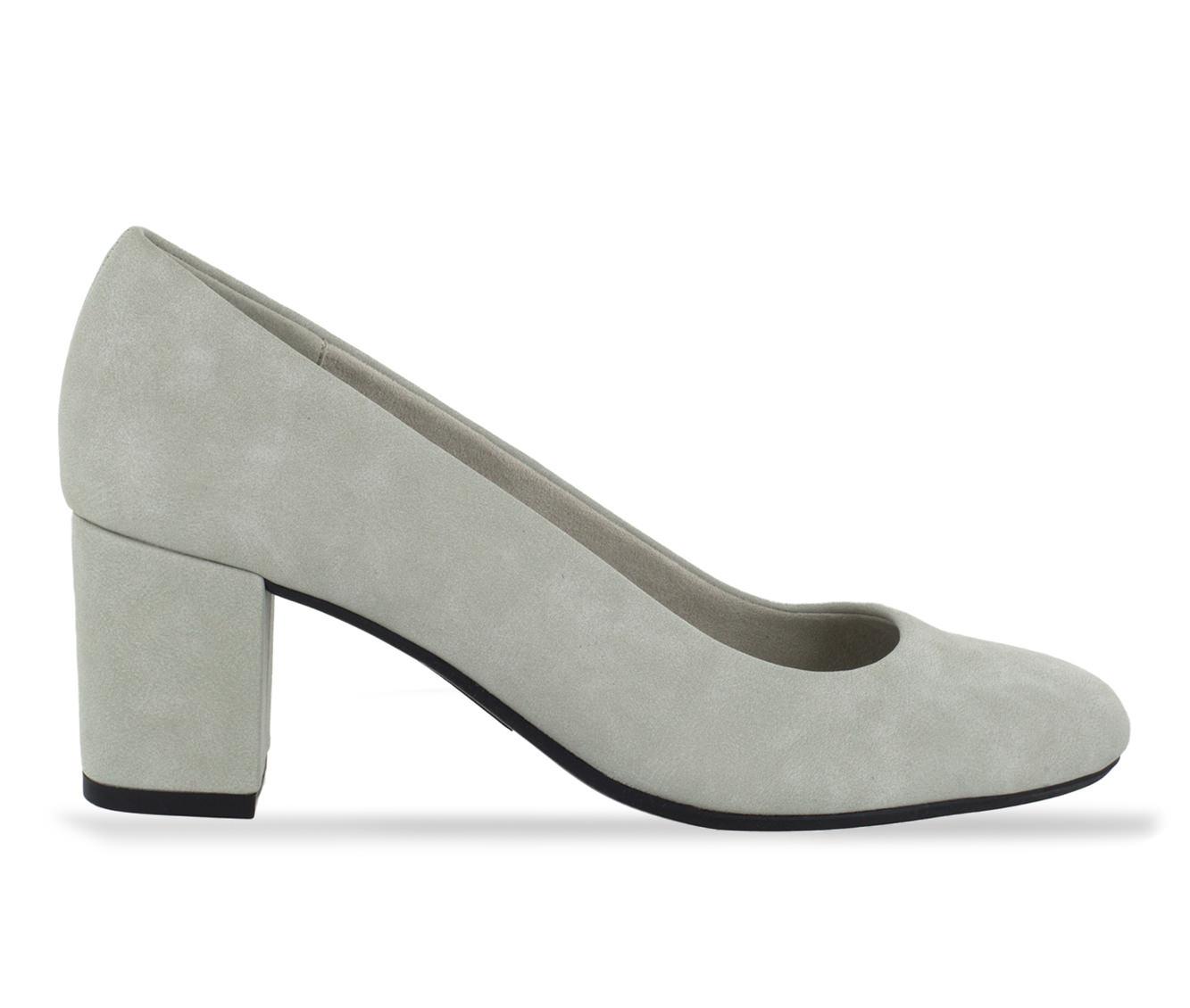 Easy Street Proper Women's Dress Shoe (Gray Faux Leather)