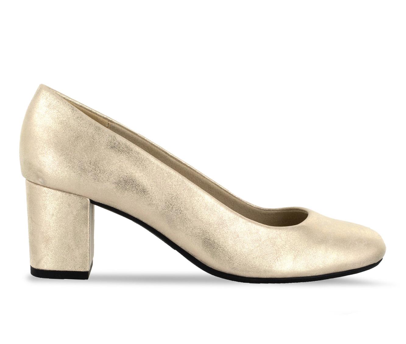 Easy Street Proper Women's Dress Shoe (Gold Faux Leather)