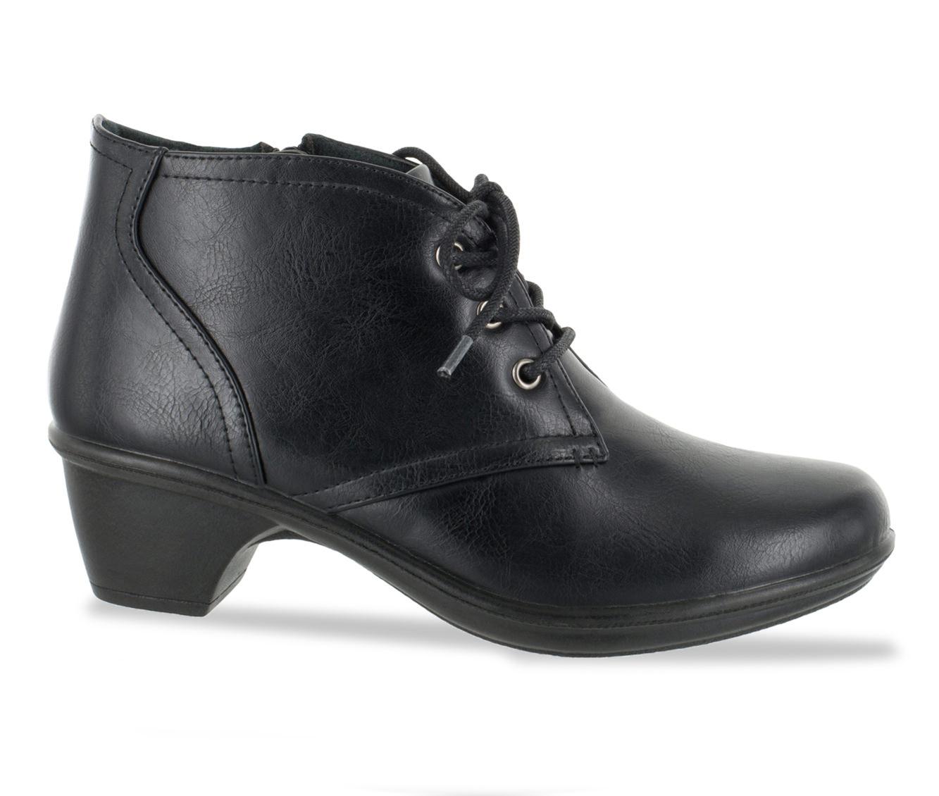 Easy Street Debbie Women's Shoe (Black Faux Leather)