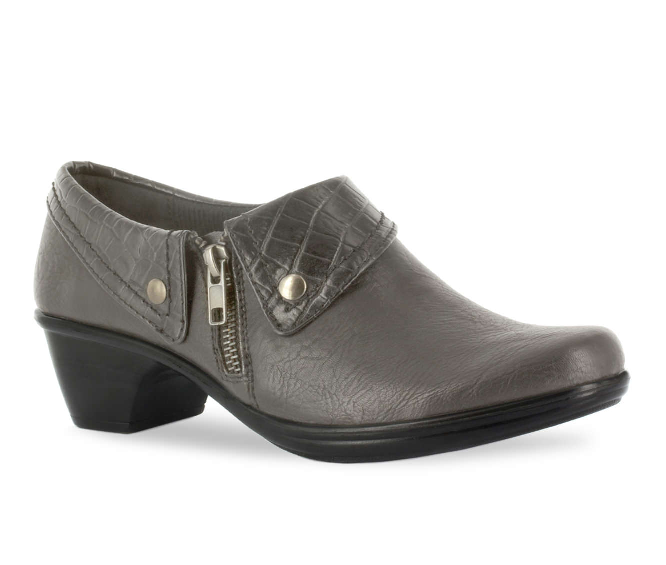 Easy Street Darcy Women's Shoe (Gray Faux Leather)