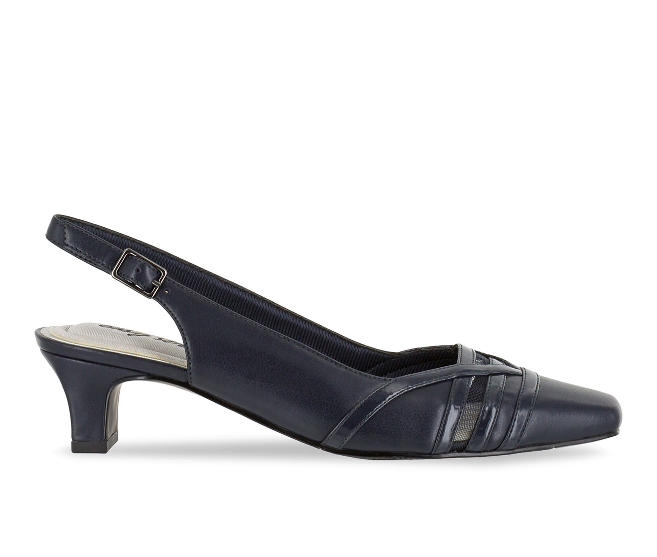 Easy Street Kristen Women's Dress Shoe (Blue Faux Leather)
