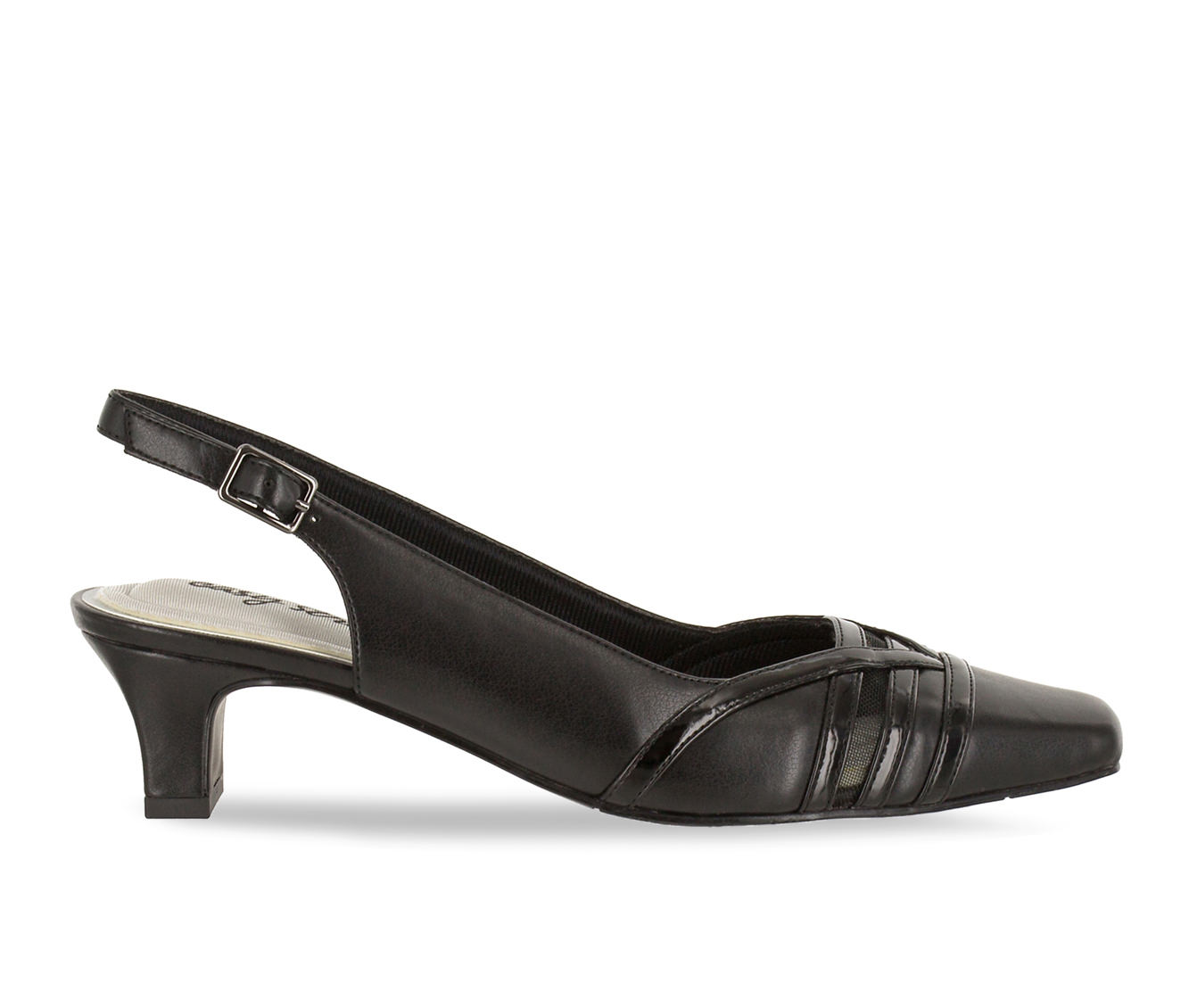Easy Street Kristen Women's Dress Shoe (Black Faux Leather)