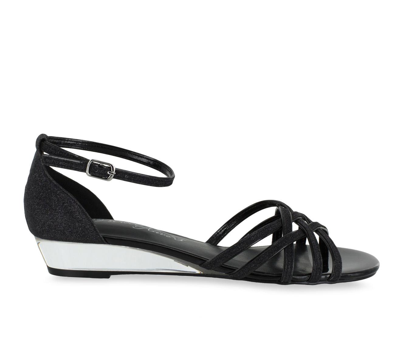 Easy Street Tarrah Women's Dress Shoe (Black Faux Leather)
