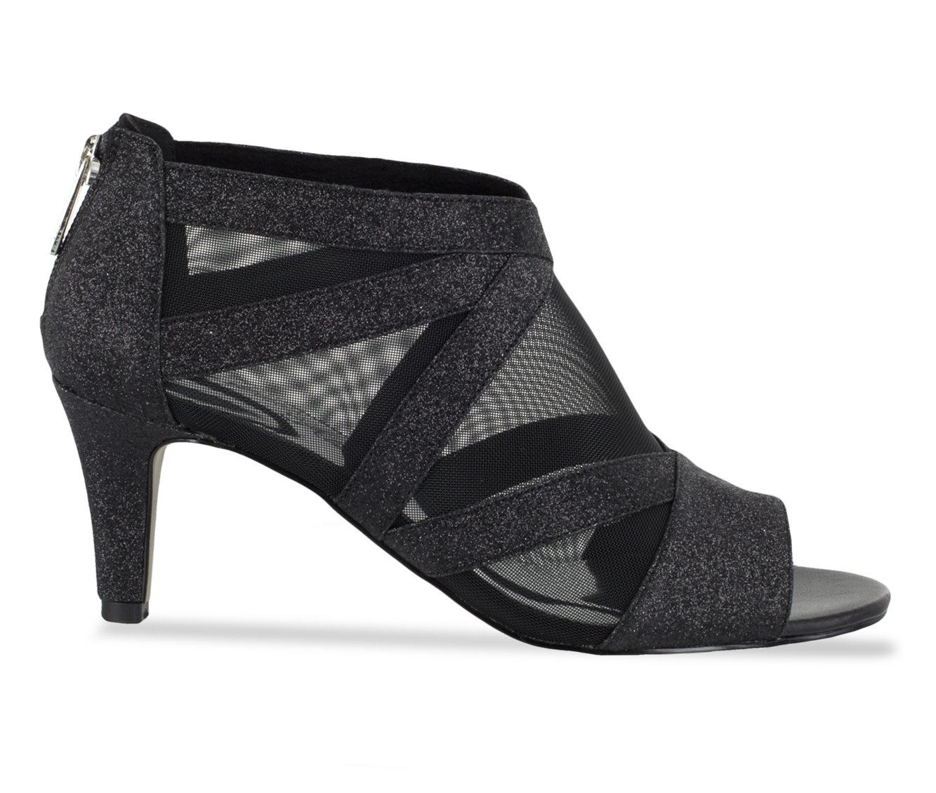 Easy Street Dazzle Women's Dress Shoe (Black Faux Leather)