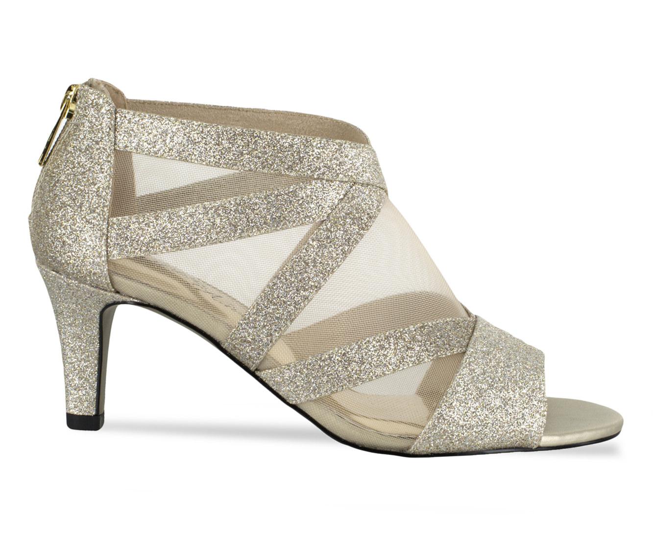 Easy Street Dazzle Women's Dress Shoe (Gold Faux Leather)