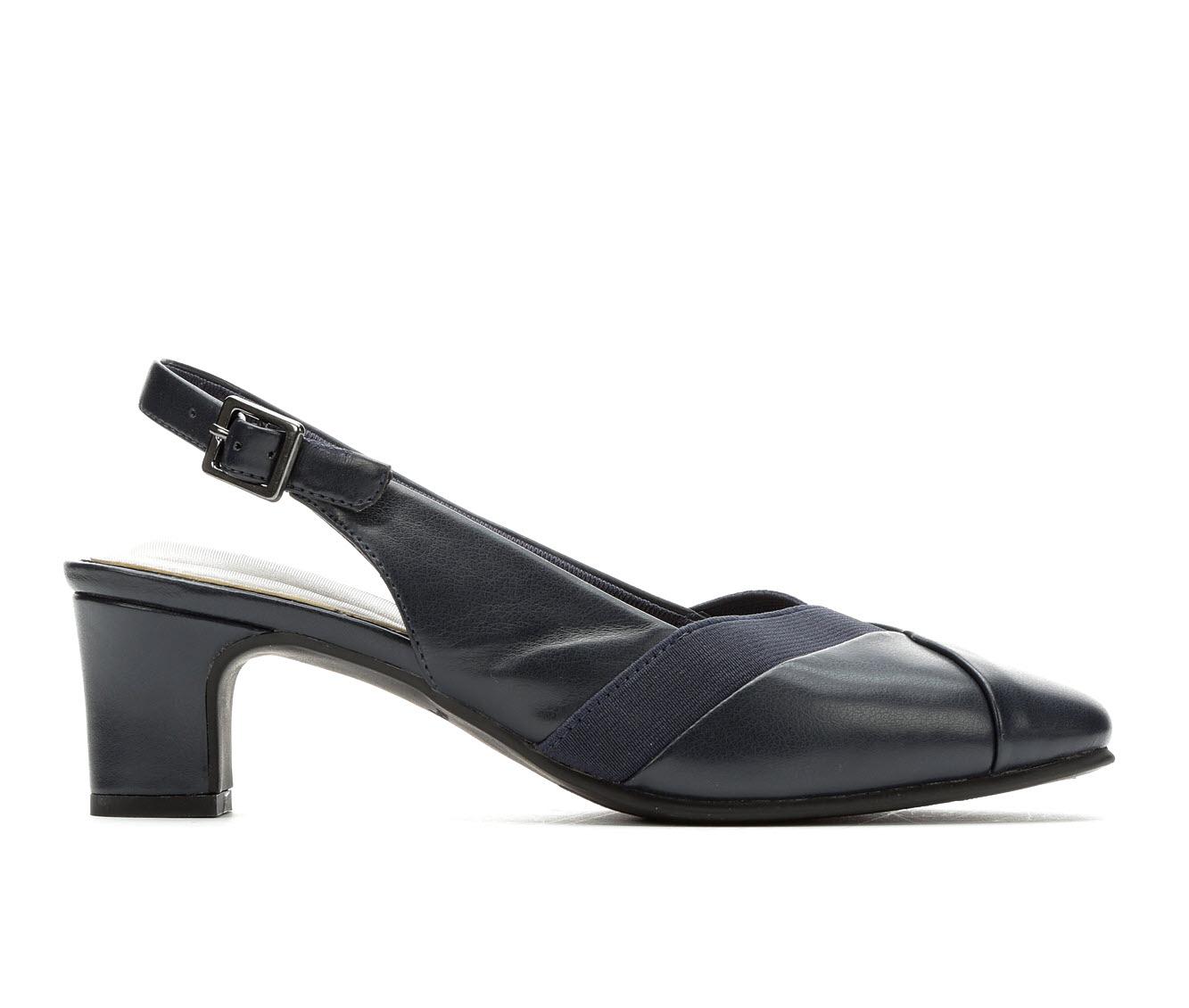 Easy Street Erika Women's Dress Shoe (Blue Faux Leather)