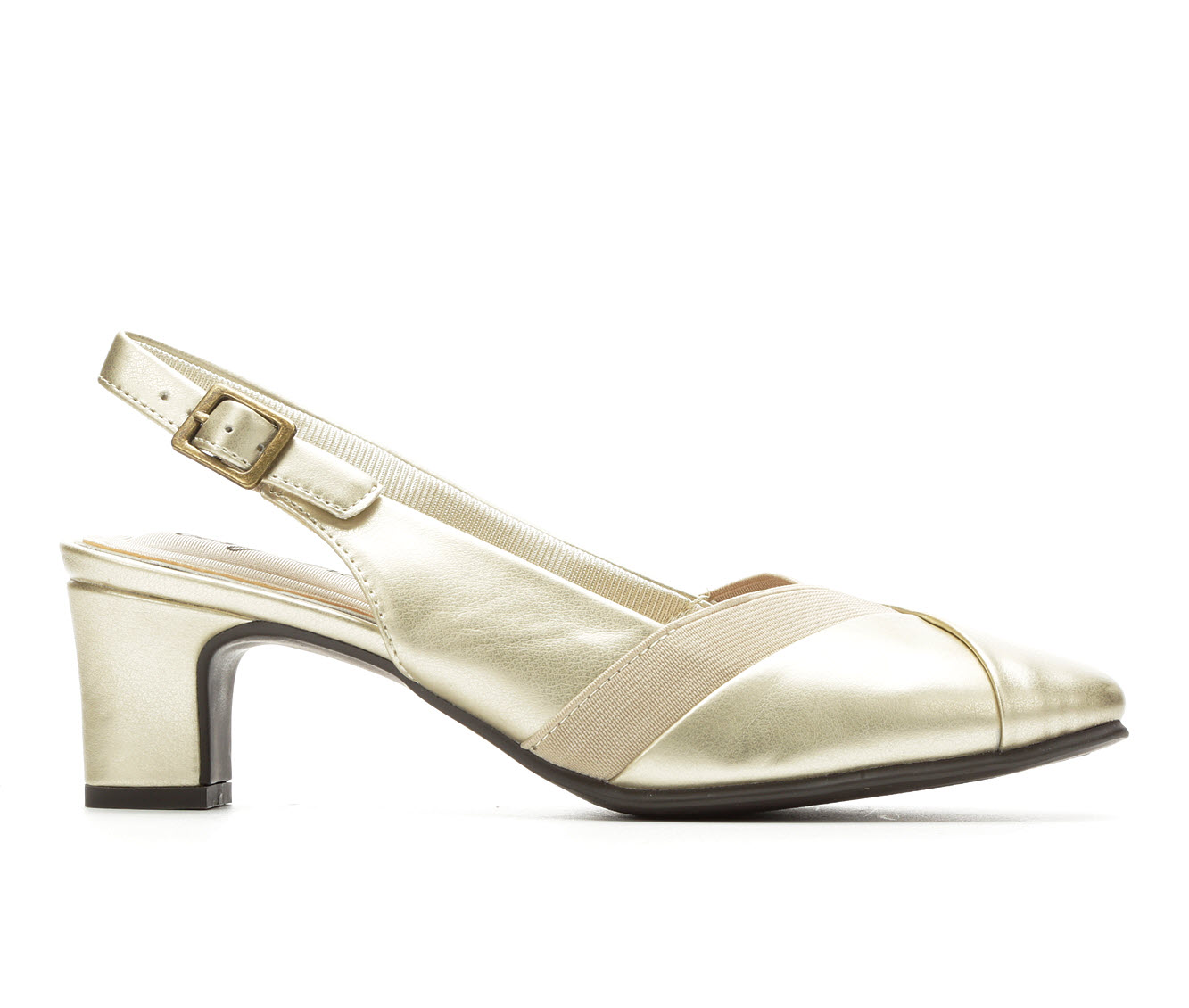 Easy Street Erika Women's Dress Shoe (Gold Faux Leather)