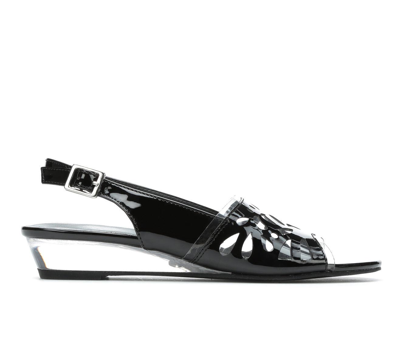 Easy Street Celebrate Women's Dress Shoe (Black Faux Leather)