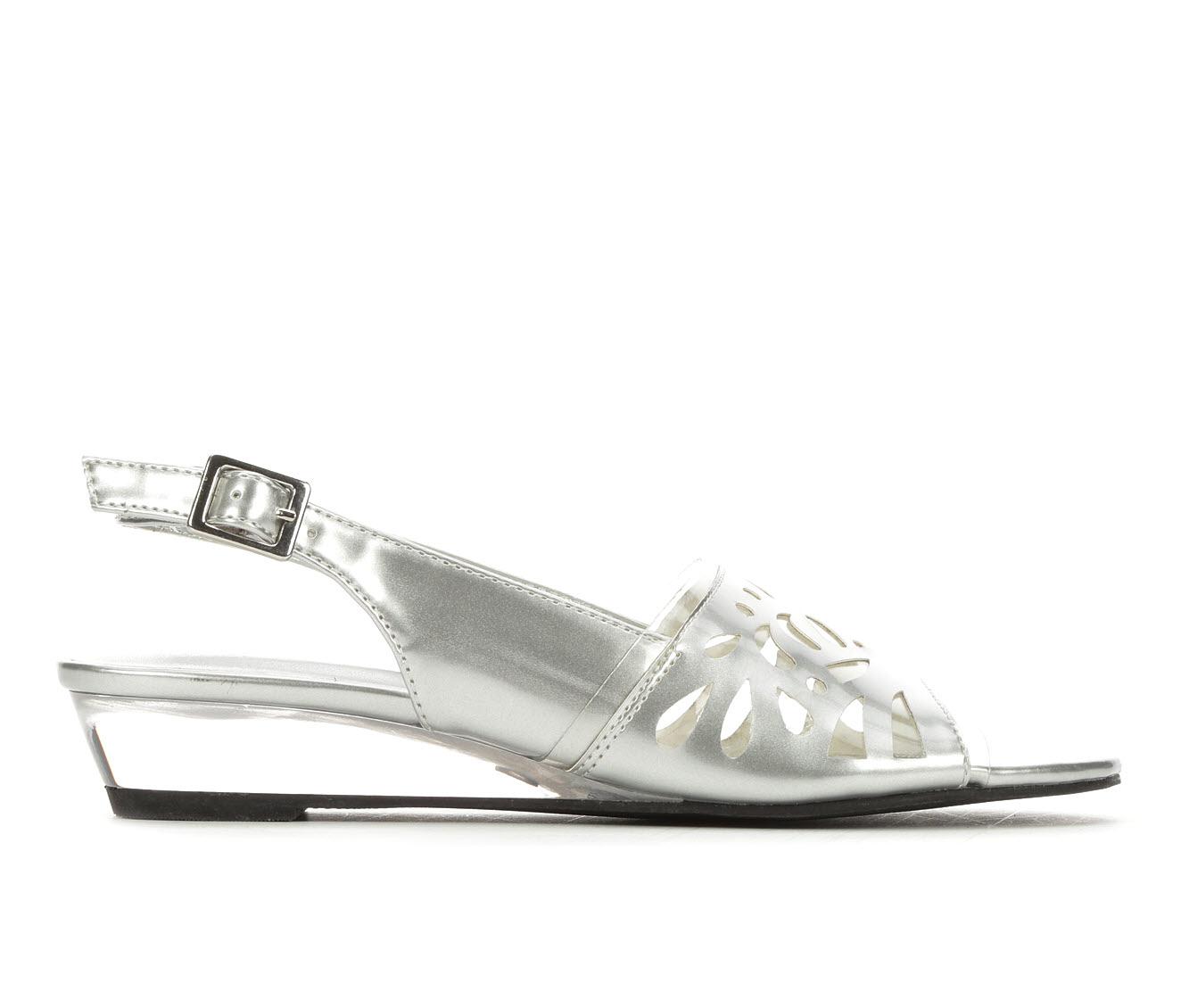 Easy Street Celebrate Women's Dress Shoe (Silver Faux Leather)