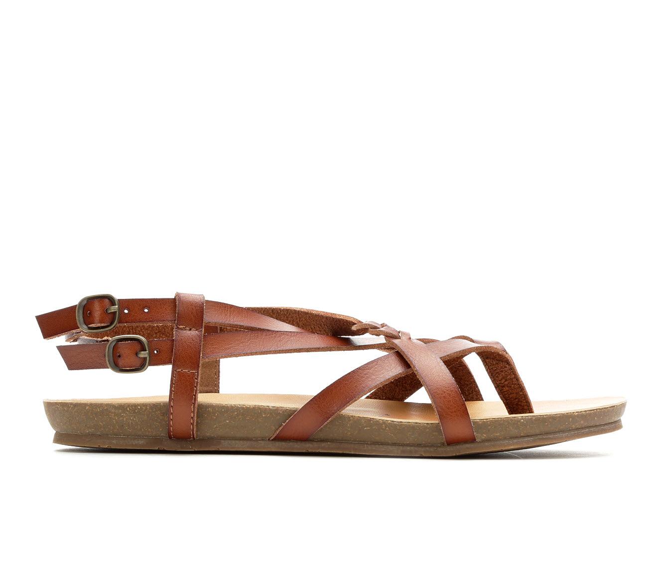 Blowfish Malibu Gineh Women's Sandal (Brown Faux Leather)