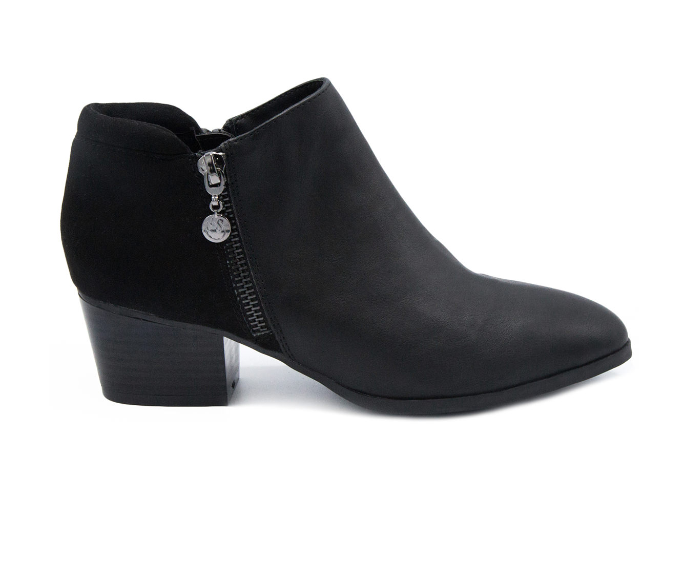 Gloria Vanderbilt Deanna Women's Boots (Black - Faux Leather)
