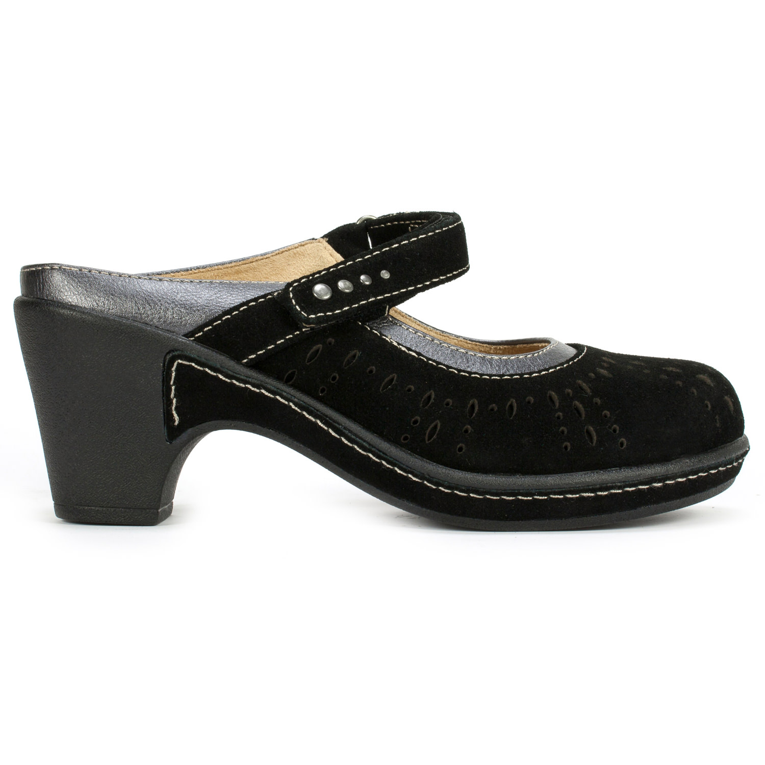White Mountain Gull Women's Shoe (Black Leather)