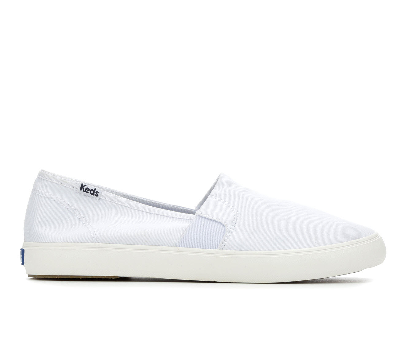 Keds Clipper Washed Women's Shoe (White Canvas)
