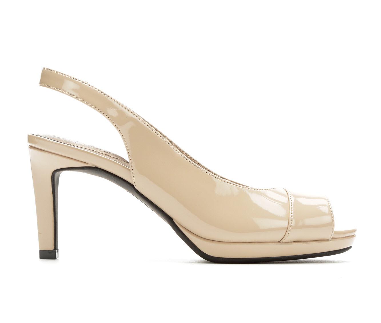 LifeStride Invest Women's Dress Shoe (Beige Faux Leather)