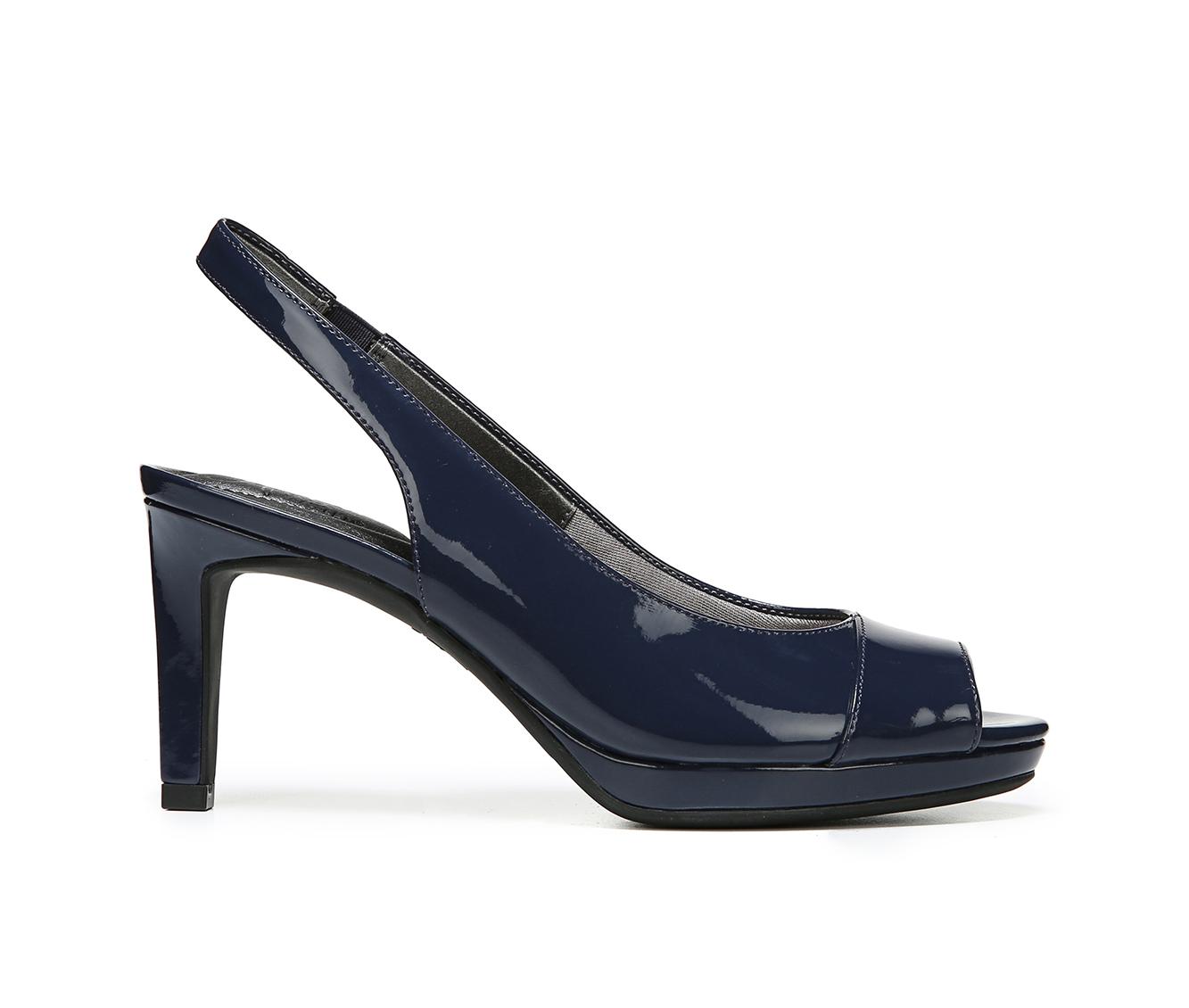 LifeStride Invest Women's Dress Shoe (Blue Faux Leather)