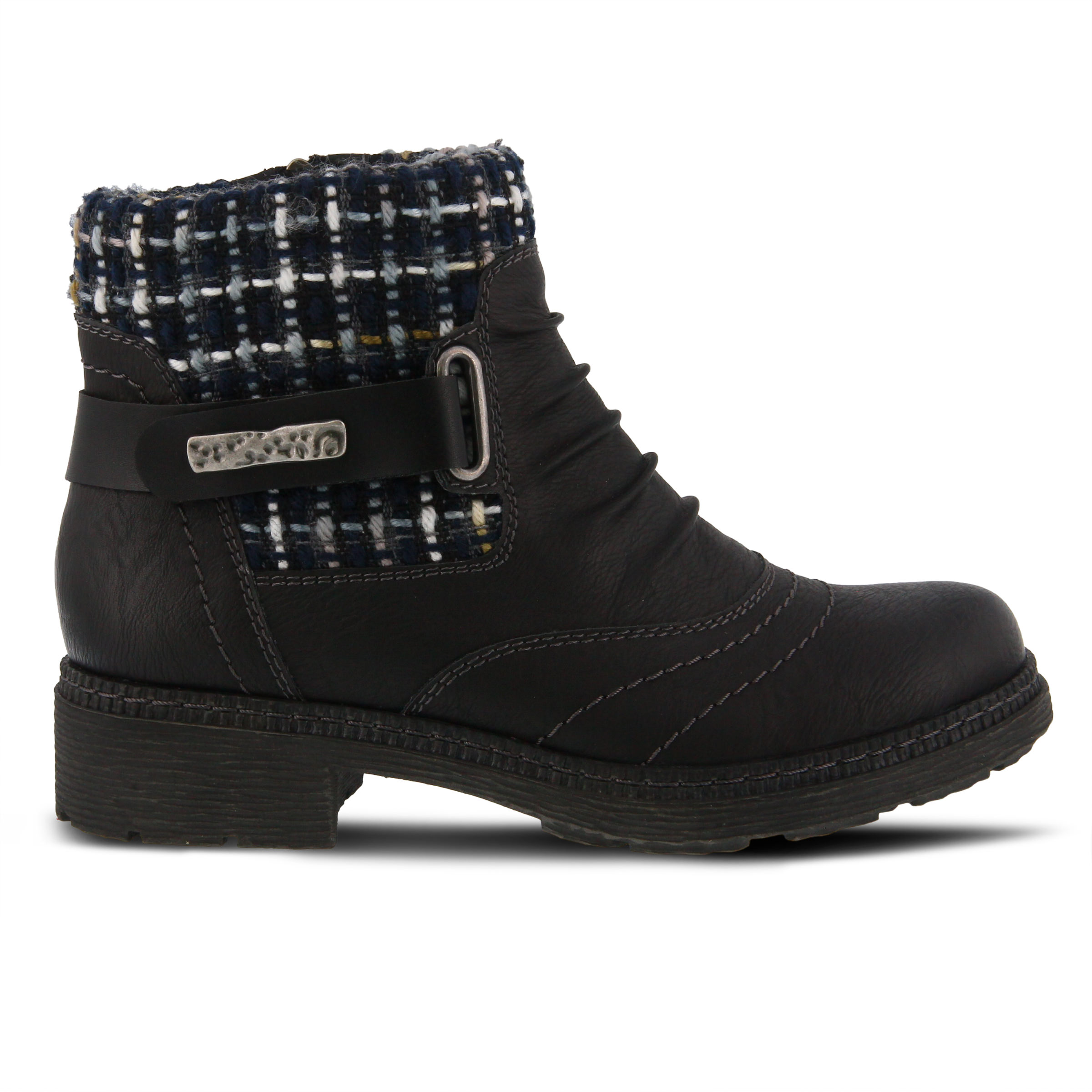 SPRING STEP Citrine Women's Boots (Black Faux Leather)