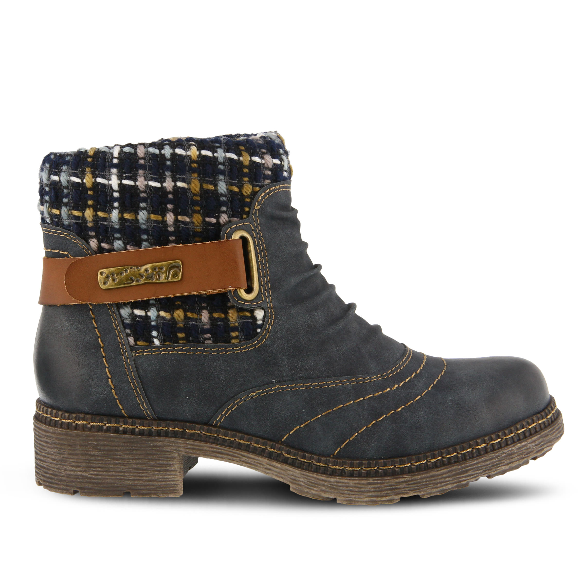 SPRING STEP Citrine Women's Boots (Blue Faux Leather)
