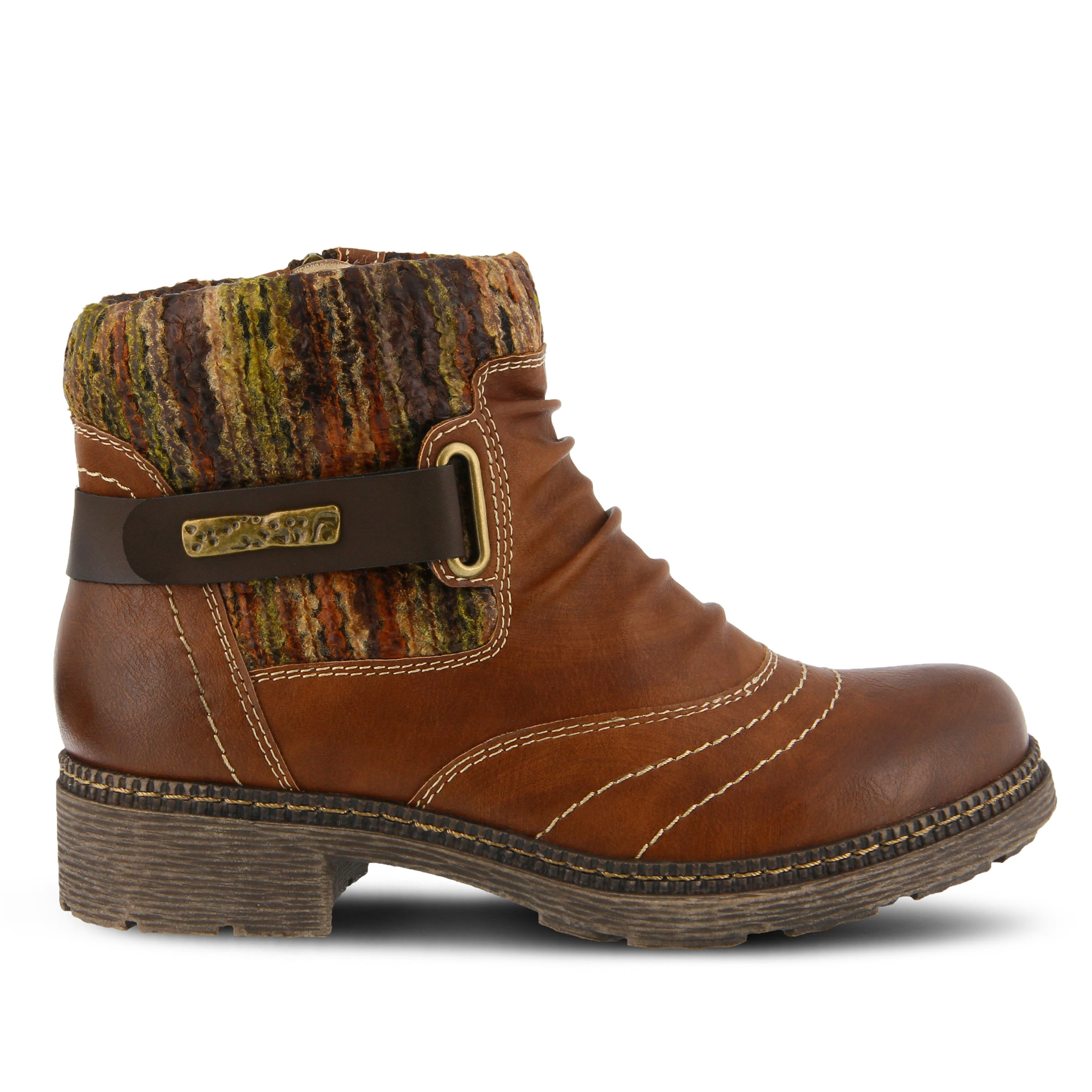 SPRING STEP Citrine Women's Boots (Brown Faux Leather)