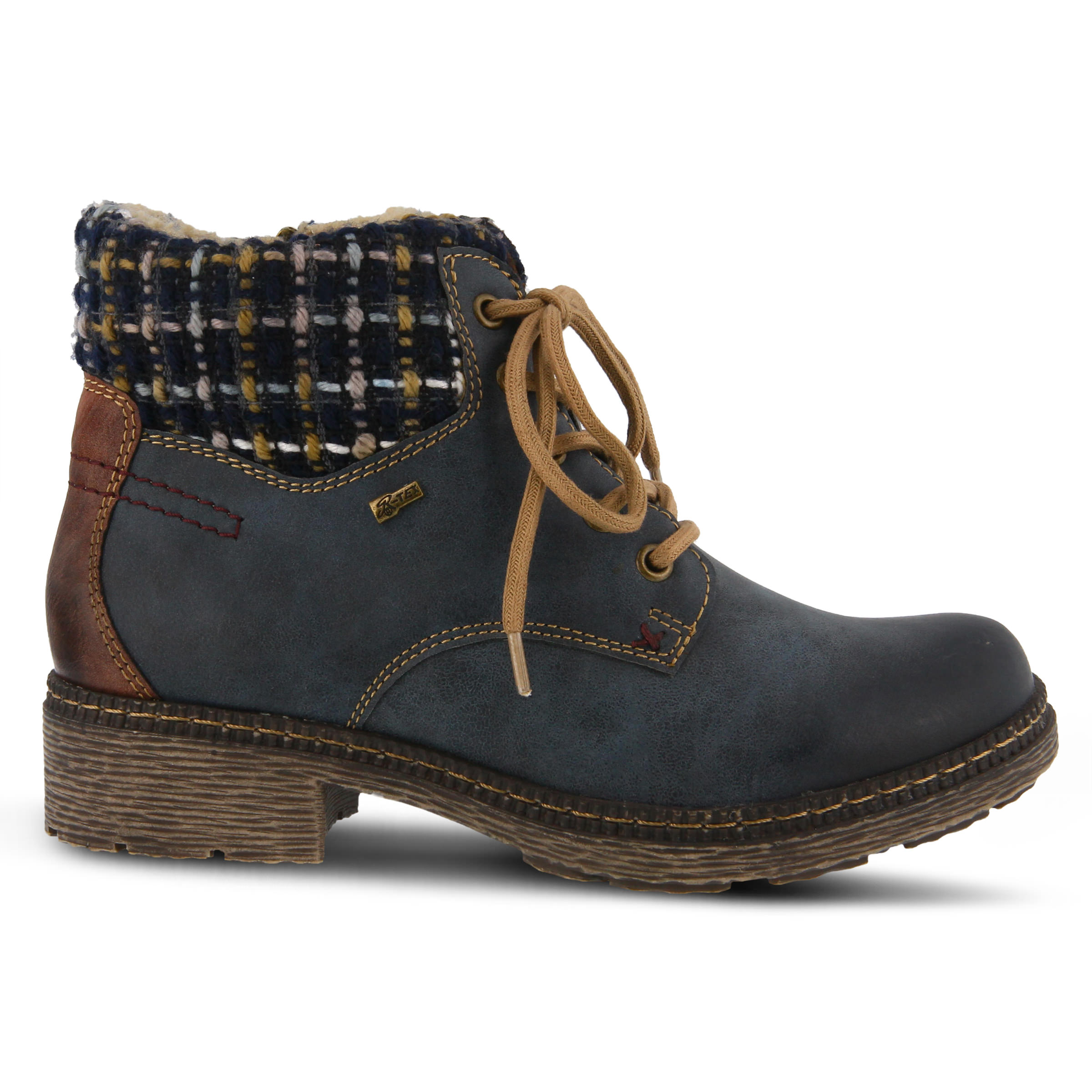 SPRING STEP Marylee Women's Boots (Blue Faux Leather)