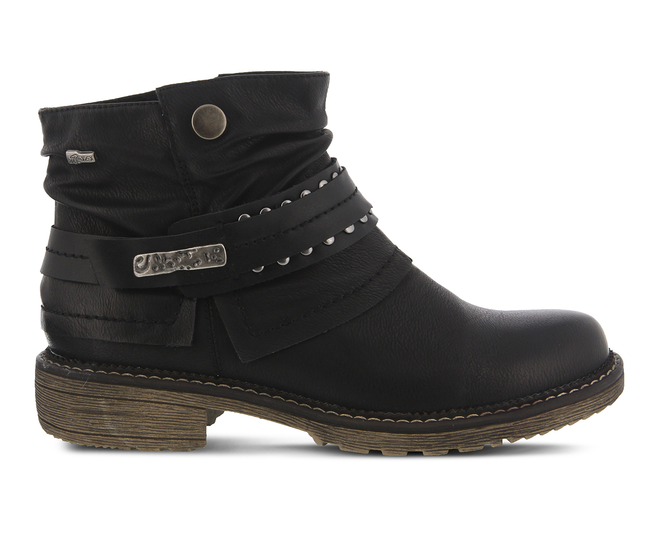 SPRING STEP Murna Women's Boots (Black Faux Leather)