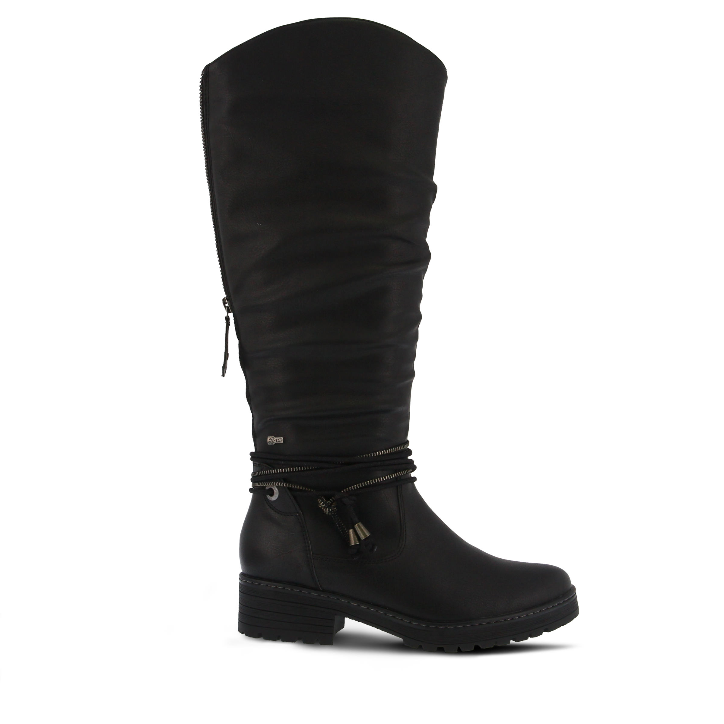SPRING STEP Vanquish Women's Boots (Black Faux Leather)