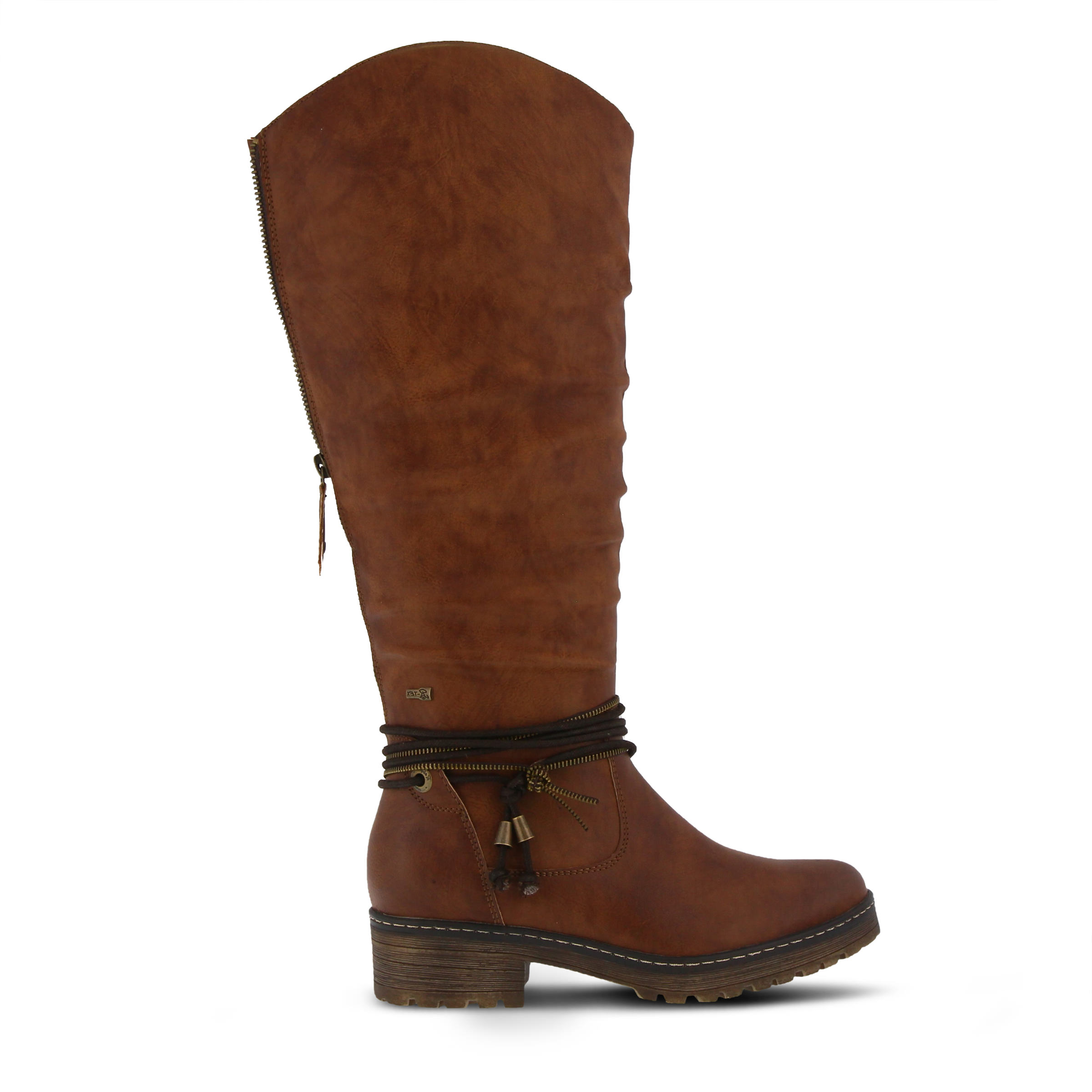SPRING STEP Vanquish Women's Boots (Brown Faux Leather)