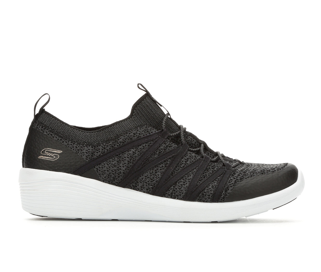 Skechers Arya 23757 Women's Shoe (Black Canvas)