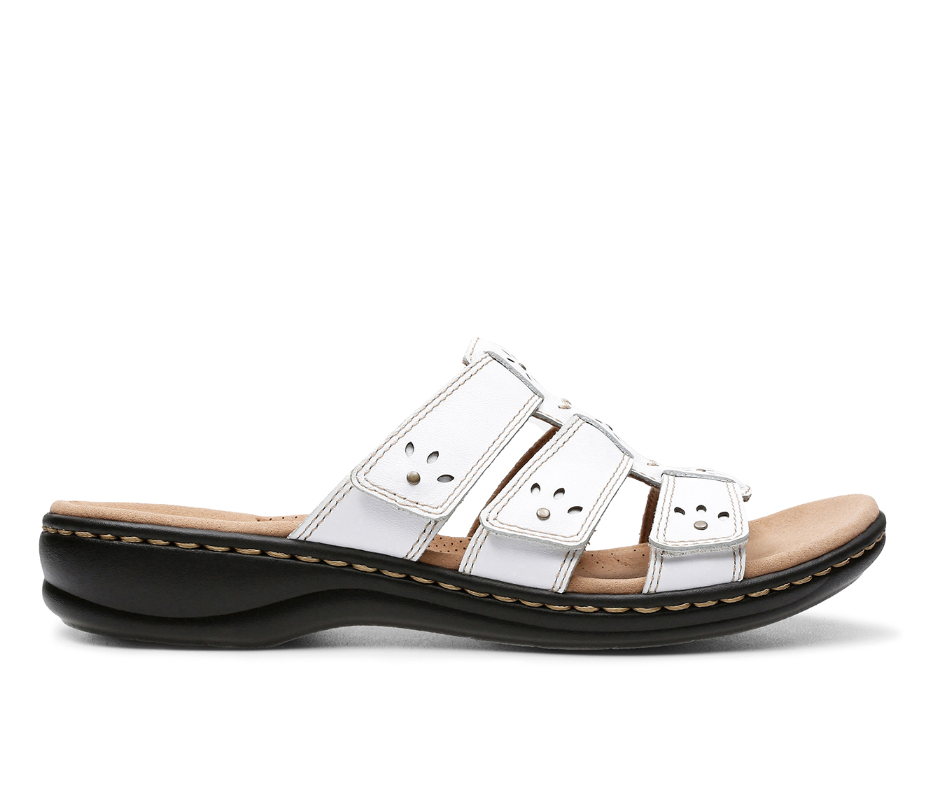 Clarks Leisa Spring Women's Sandal (White Leather)