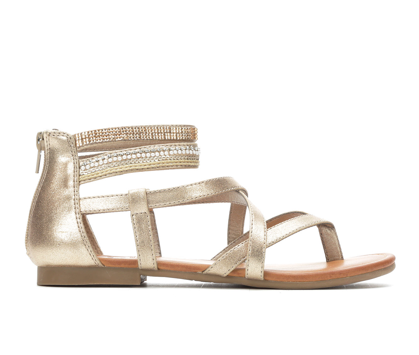 Jellypop Levine Women's Sandal (Gold Faux Leather)