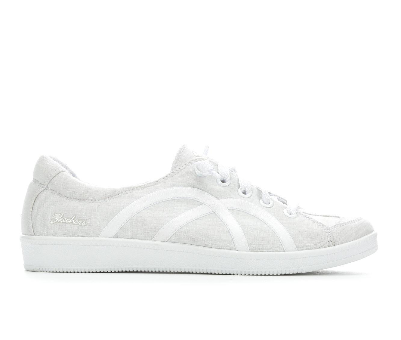 Skechers Take A Walk 23958 Women's Shoe (White Canvas)