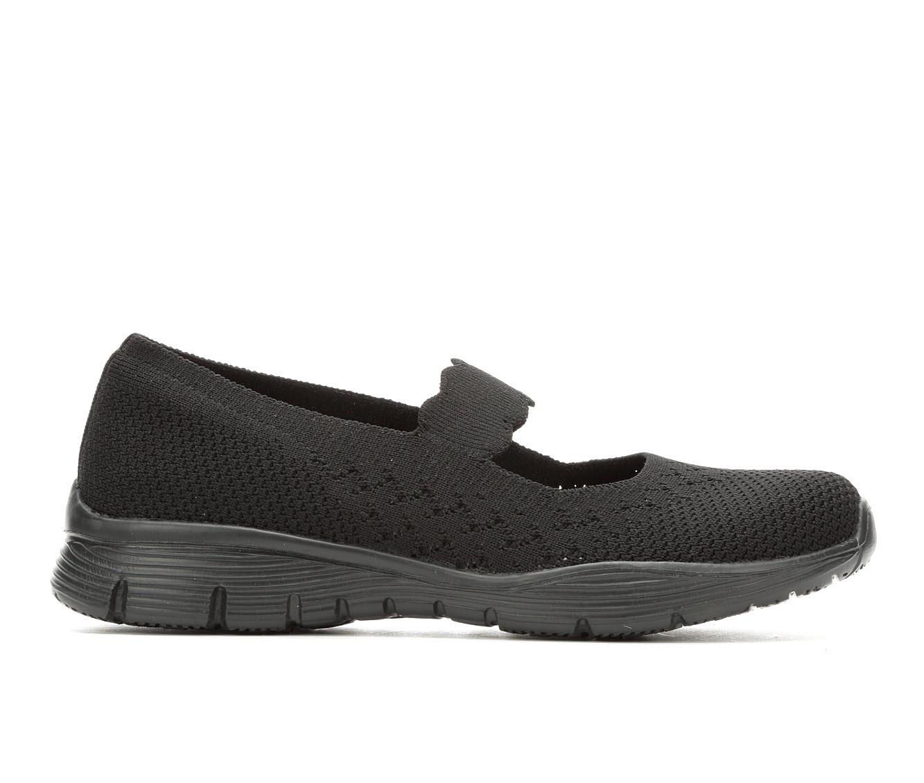 Skechers Power Hitter 49622 Women's Shoe (Black Canvas)