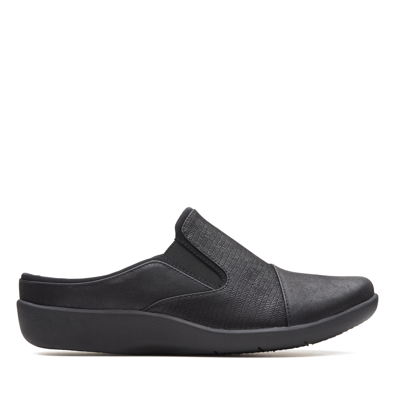 Clarks Sillian Free Women's Shoe (Black Canvas)