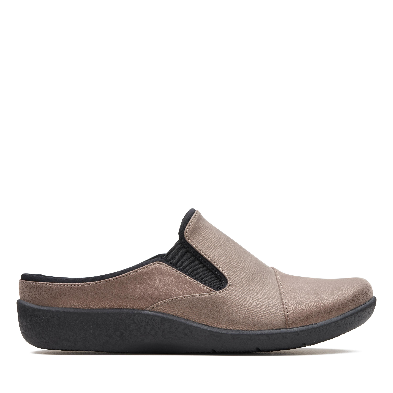 Clarks Sillian Free Women's Shoe (Gray Faux Leather)