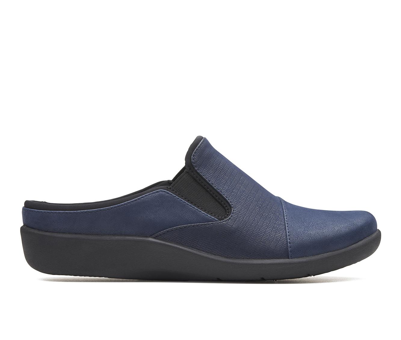 Clarks Sillian Free Women's Shoe (Blue Faux Leather)