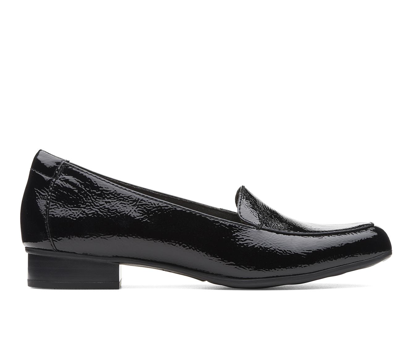 Clarks Juliet Lora Women's Shoe (Black Faux Leather)