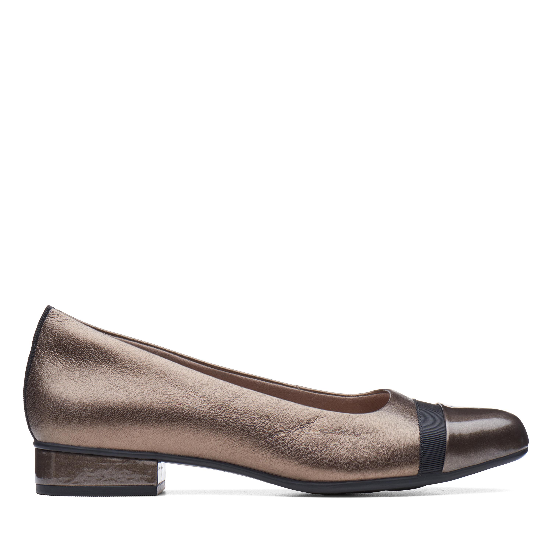 Clarks Juliet Monte Women's Shoe (Gray Leather)