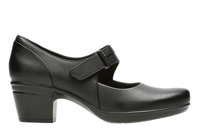 Clarks Emslie Lulin Women's Shoe (Black Leather)