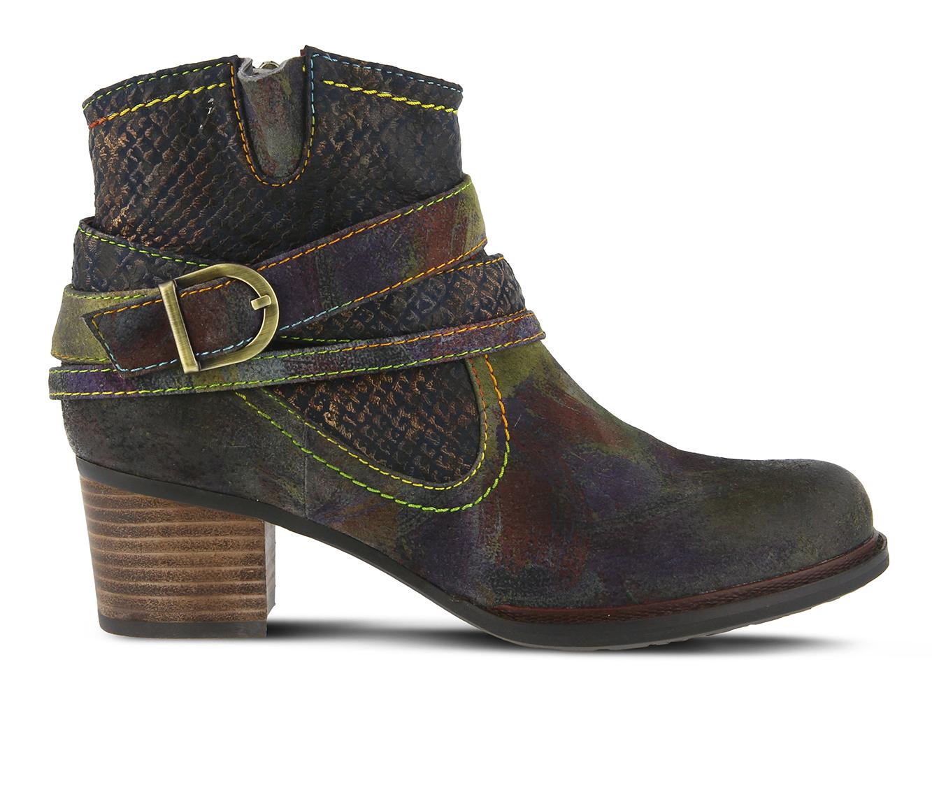 L'Artiste Shazzam Women's Boots (Blue Leather)