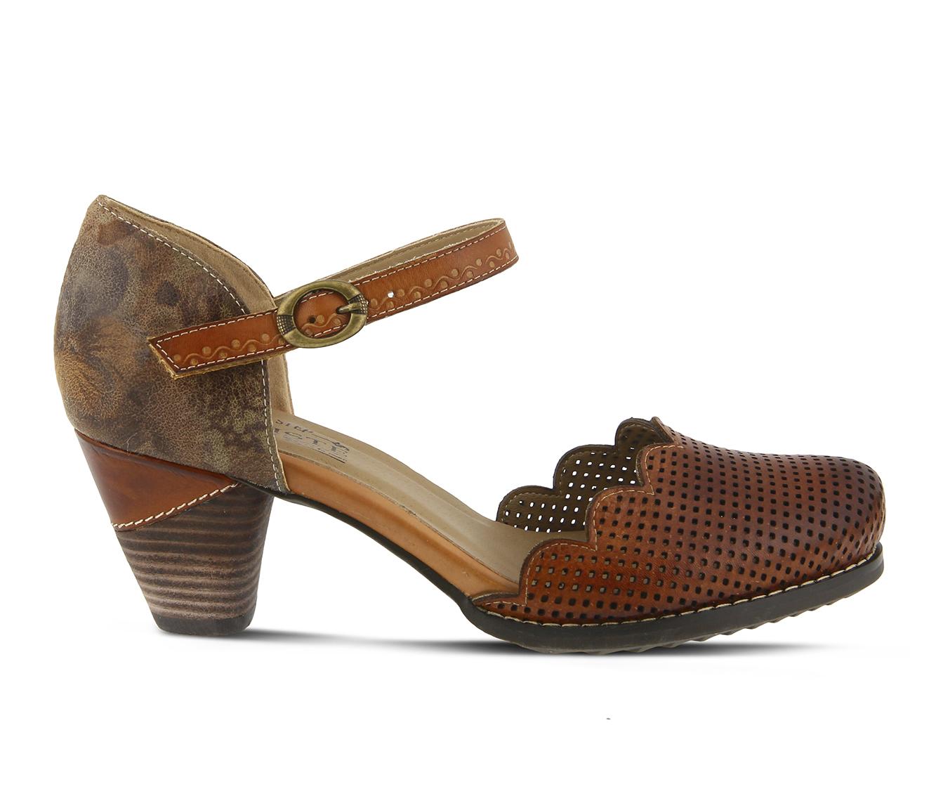 L'Artiste Parchelle Women's Dress Shoe (Brown Leather)