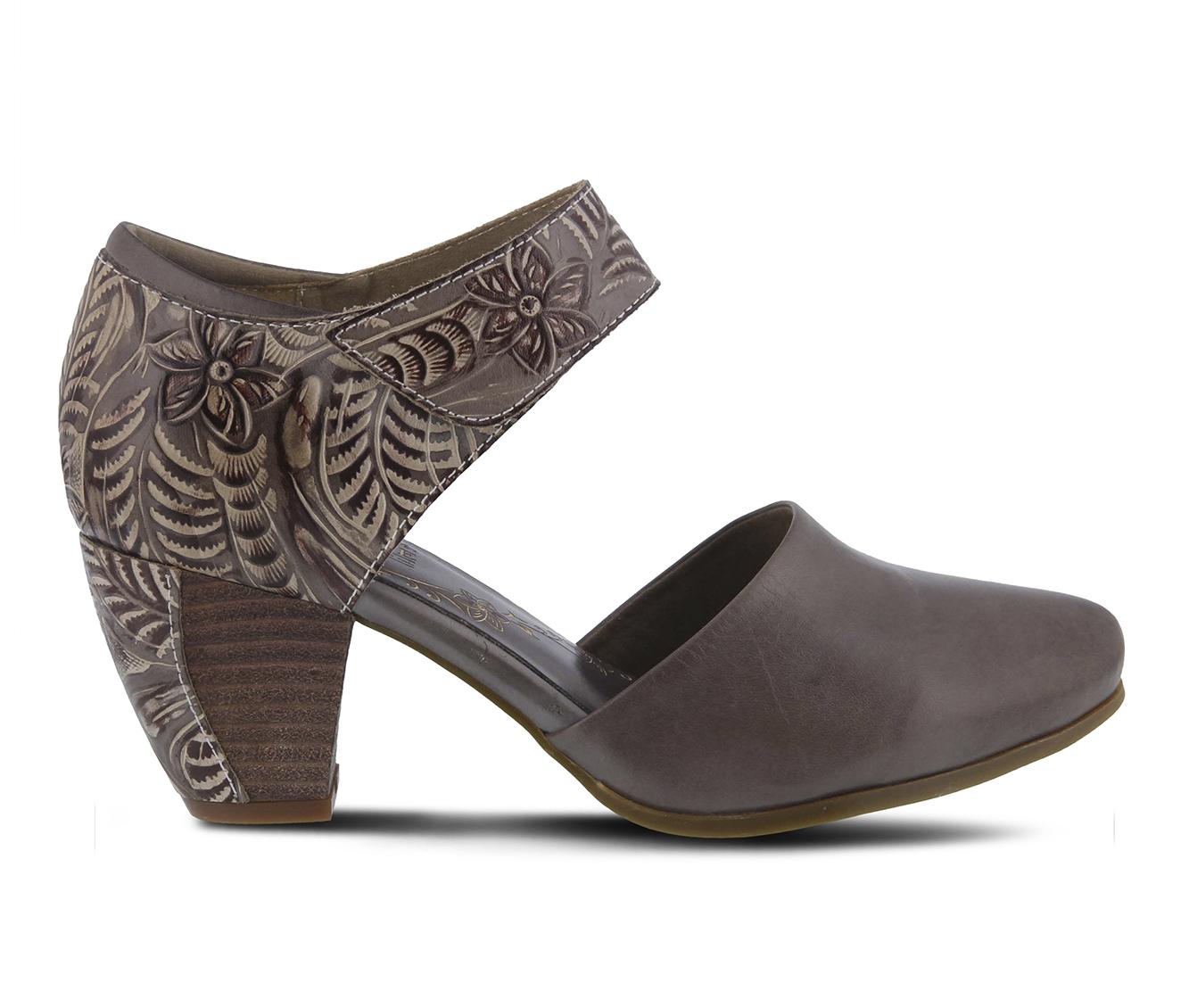 L'Artiste Toolie Women's Dress Shoe (Gray Leather)