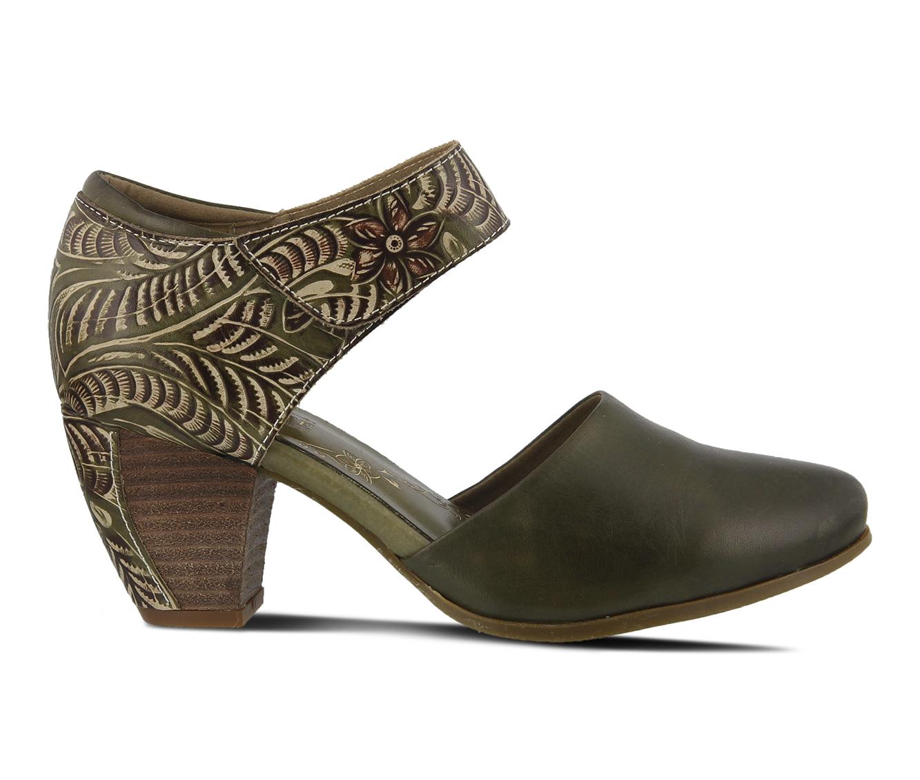L'Artiste Toolie Women's Dress Shoe (Green Leather)