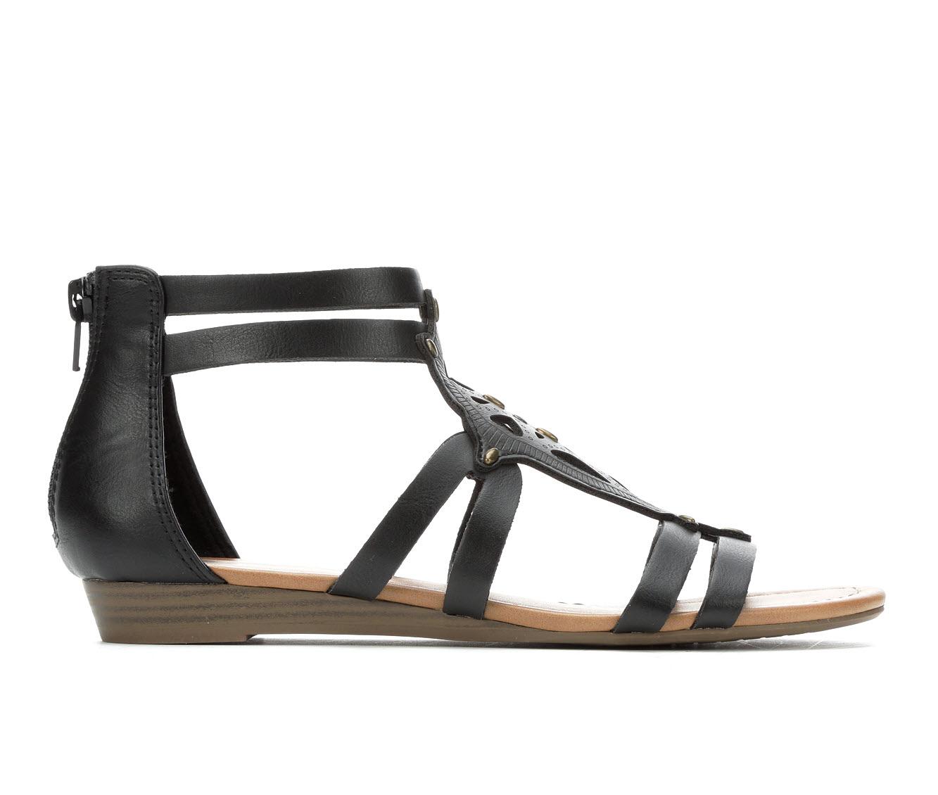 Makalu Camila Women's Sandal (Black Faux Leather)