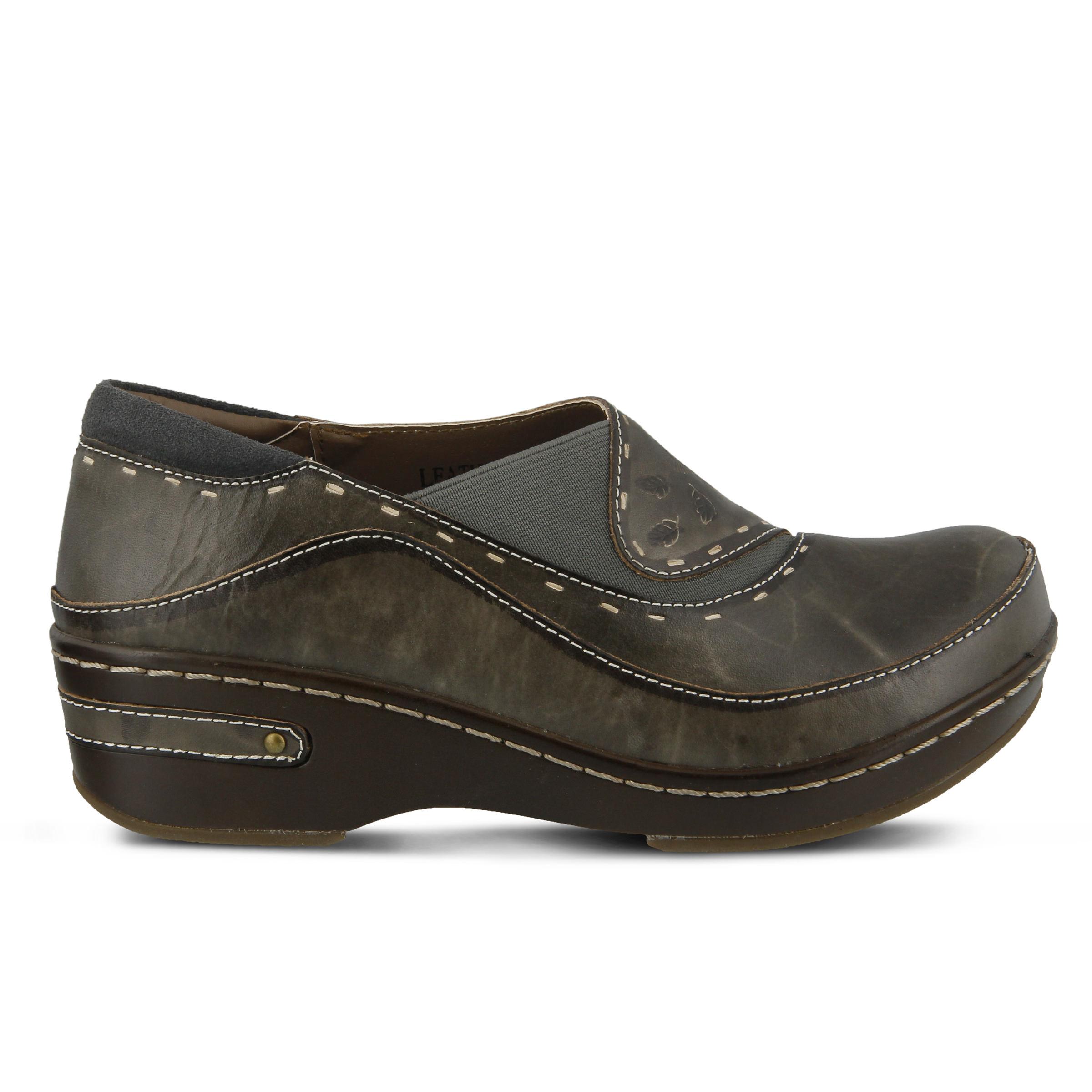 L'Artiste Burbank Women's Shoe (Gray Leather)