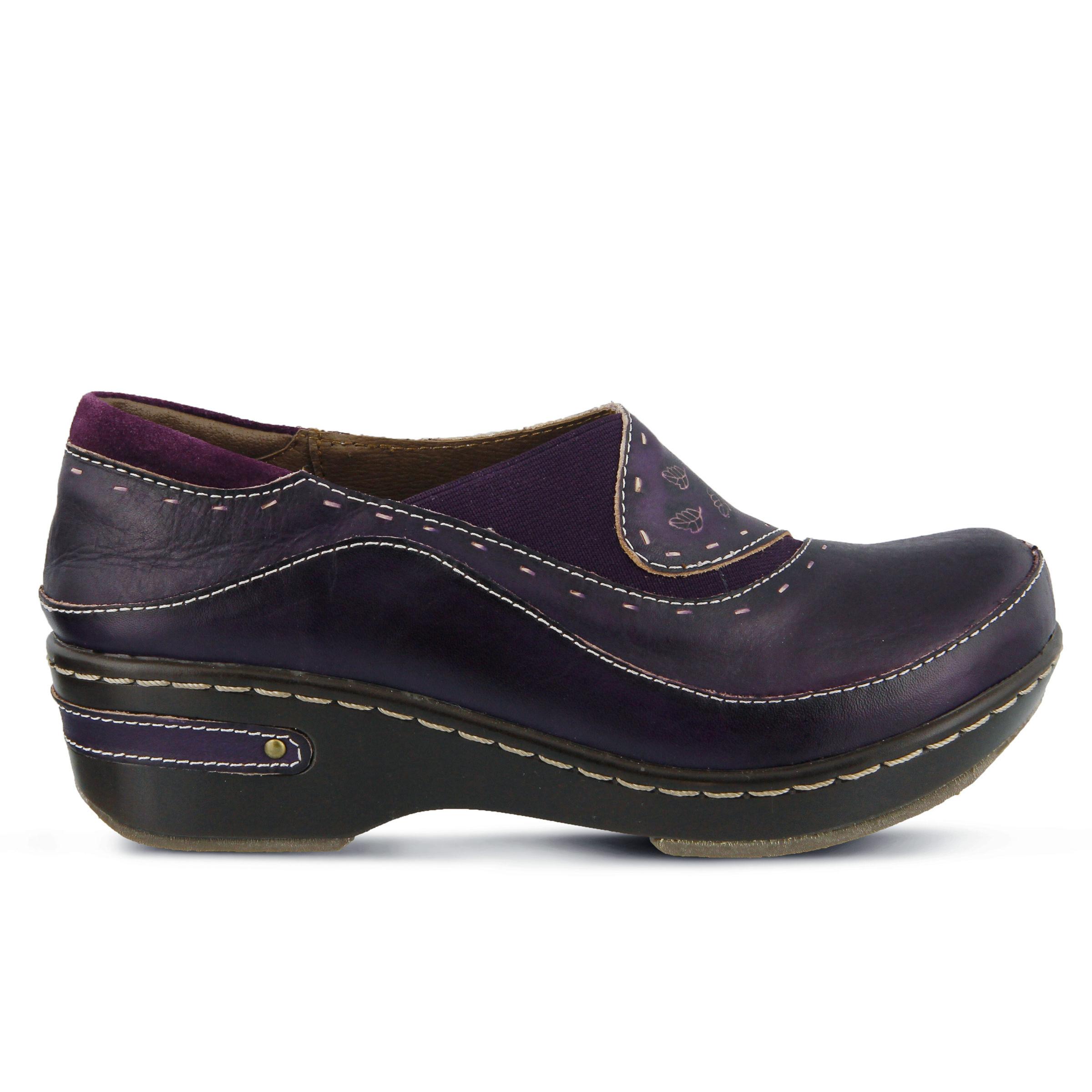 L'Artiste Burbank Women's Shoe (Purple Leather)