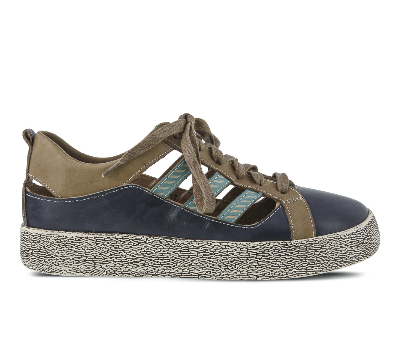 L'Artiste Porscha Women's Shoe (Blue Leather)