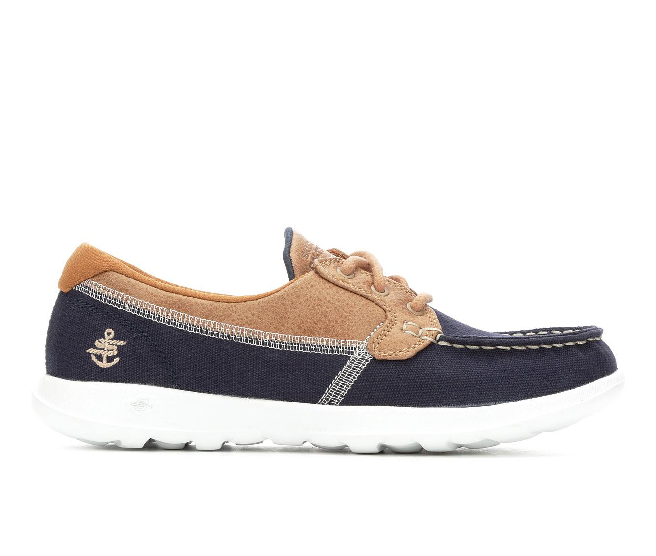 Skechers Go Lite Coral 15430 Women's Shoe (Blue Canvas)